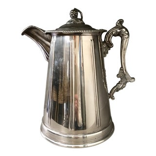 Antique Silver English Coffee Pot For Sale
