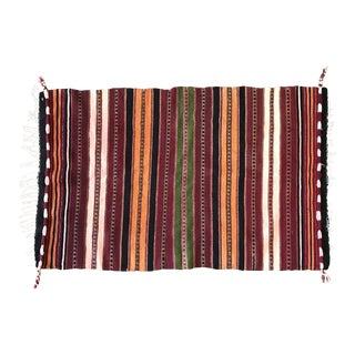 Moroccan Hand Made Spun Wool Rug - 2′ × 3′2″ For Sale
