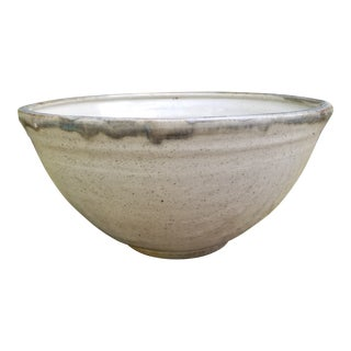 1970s Handmade Ceramic Bowl From Watermill, New York For Sale