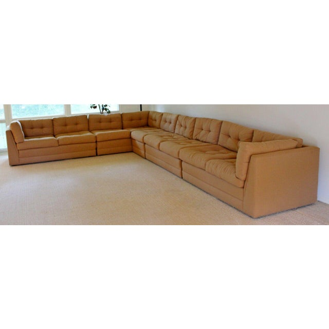 1980s Contemporary Modern Vladimir Kagan for Preview 5 Pc L Shape Sectional Sofa 1980s For Sale - Image 5 of 9