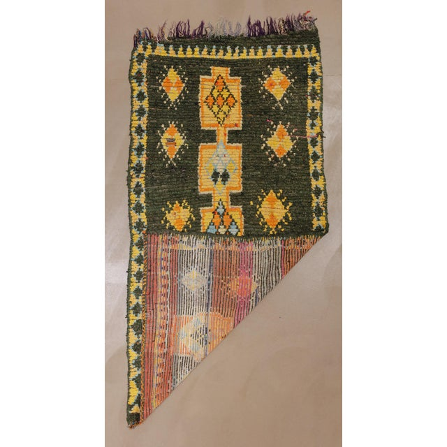 """Textile Vintage Moroccan Rug, 3'10"""" X 7'5"""" For Sale - Image 7 of 10"""