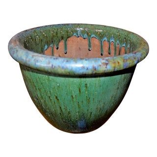 Glazed Cache Pot For Sale