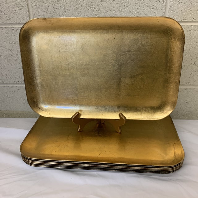 Large Gold Leaf Otajiri Trays Chargers - Set 8 For Sale - Image 13 of 13