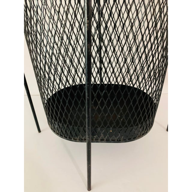 Maurice Duchin Floating Iron Mesh Wastebasket Trash Can For Sale - Image 9 of 12