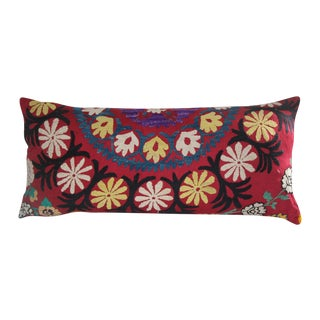 Rose Suzani Pillow For Sale