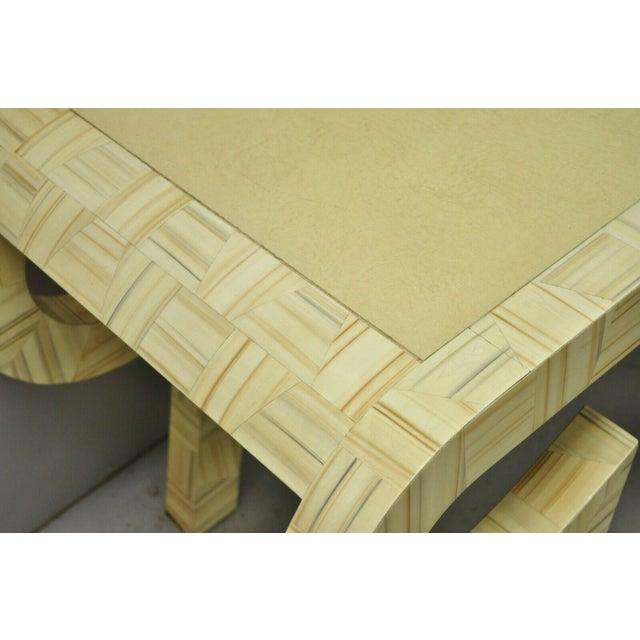 Allesandro Baker Karl Springer Style Cream Console Table For Sale - Image 11 of 13