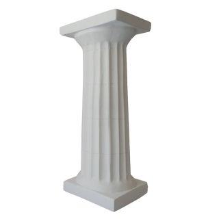 White Plaster Doric Column Candle Holder For Sale