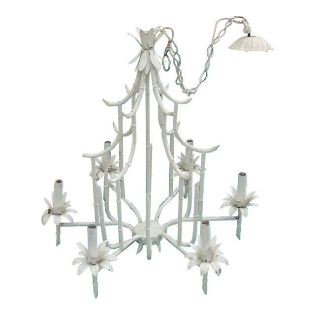 Faux Bamboo Pagoda Chandelier - Image 1 of 10