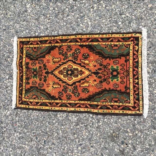 Hamadan Persian Rug - 1′6″ × 2′6″ - Image 2 of 9