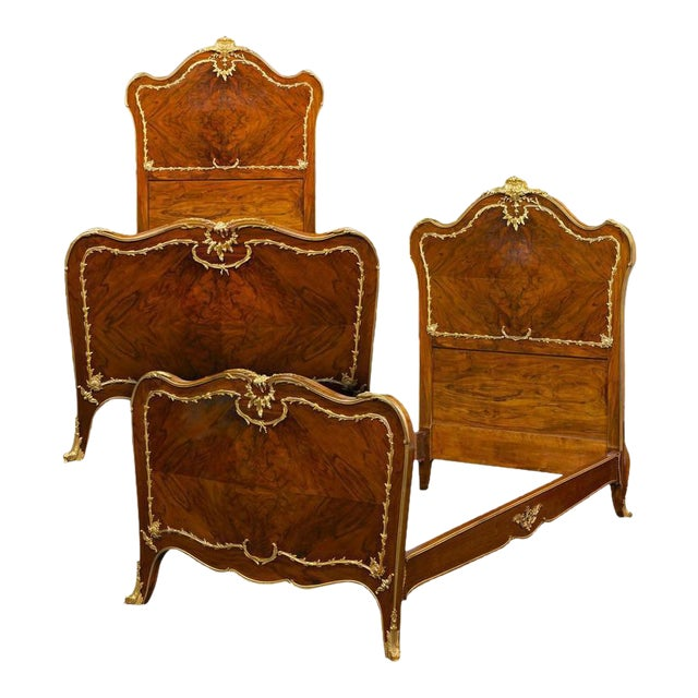 Rococo Style Twin Beds - A Pair - Image 1 of 8