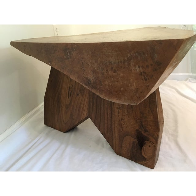 Rustic Live Edge Tree Cocktail Table For Sale - Image 4 of 13