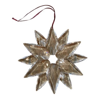 Lucite Ornamental Star Christmas Decoration