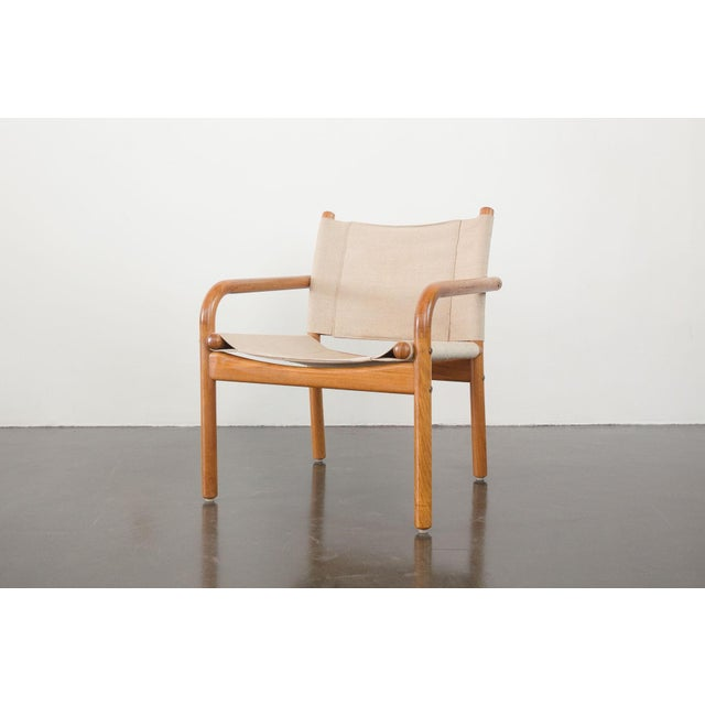 Mid-Century Danish Safari Chairs - A Pair For Sale - Image 9 of 13
