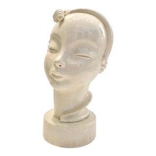 Art Deco Ceramic Bust For Sale