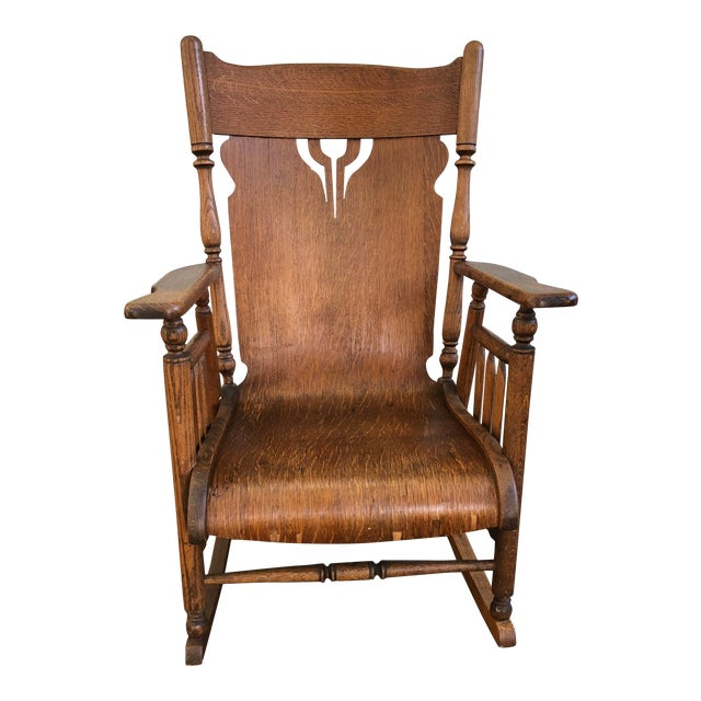 Excellent Early 20Th Century Antique Rolled Seat Rocking Chair Gmtry Best Dining Table And Chair Ideas Images Gmtryco
