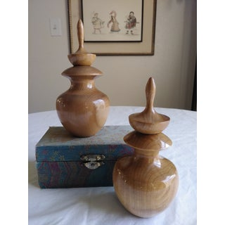 Myrtlewood Perfume/Oil Holder- a Pair Preview
