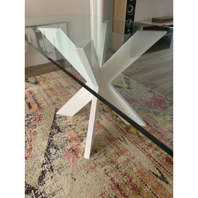 Contemporary White Lacquer X Table Base For Sale - Image 3 of 13