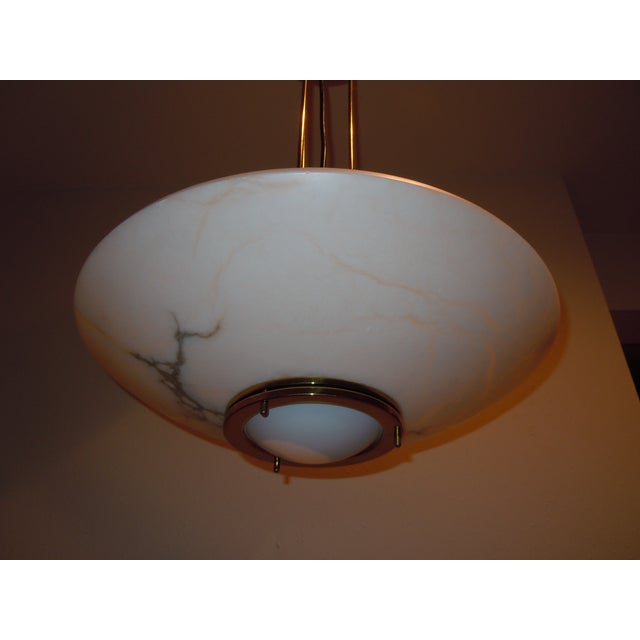 Lightolier Alabaster Pendant Light - Image 5 of 9