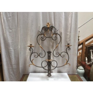 Hand Wrought Iron Candle Sconce Preview