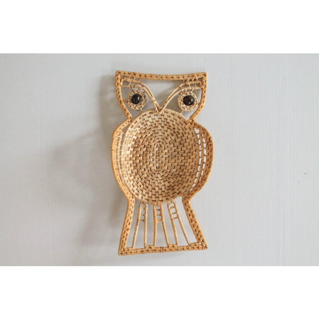 Brown Vintage Owl Wall Hanging For Sale - Image 8 of 8