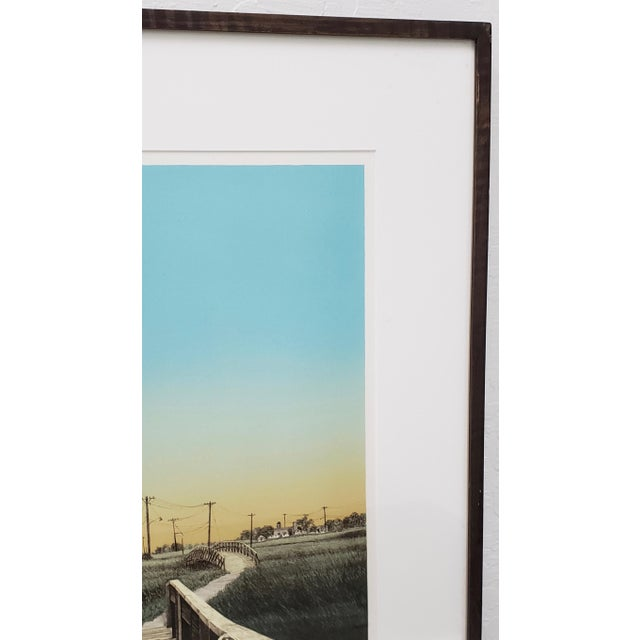 """Illustration Martin Levine (American, 20th C.) """"Private Property"""" Limited Edition Color Lithograph C.1982 For Sale - Image 3 of 11"""
