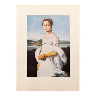 "Jean-Auguste-Dominique Ingres ""Mademoiselle Riviere"", 1940s Swiss Photogravure For Sale"