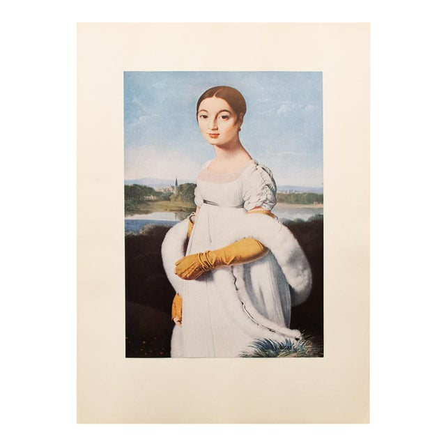 """Jean-Auguste-Dominique Ingres """"Mademoiselle Riviere"""", 1940s Swiss Photogravure For Sale"""