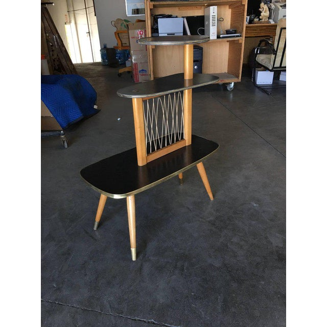 1950s Three-Tier Midcentury String Art Center Side Tables - Set of 3 For Sale - Image 10 of 11