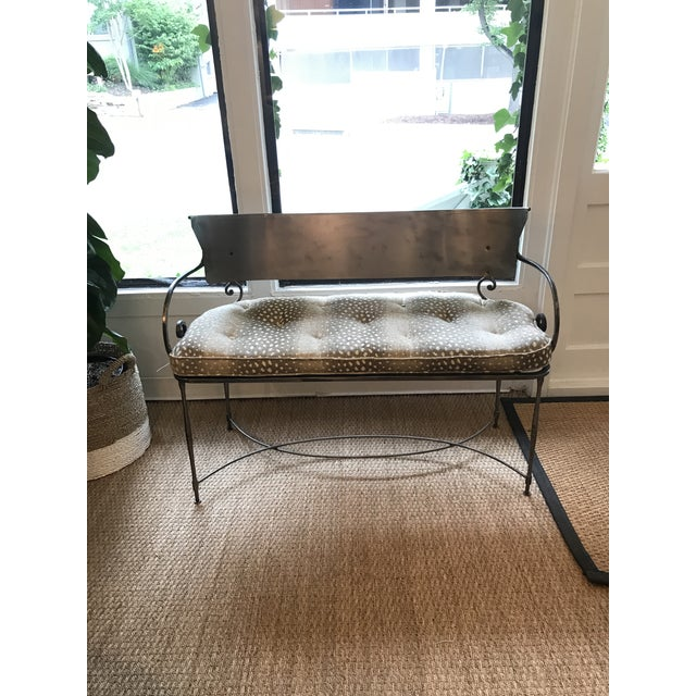Metal Traditional Metal Indoor/Outdoor Bench For Sale - Image 7 of 7
