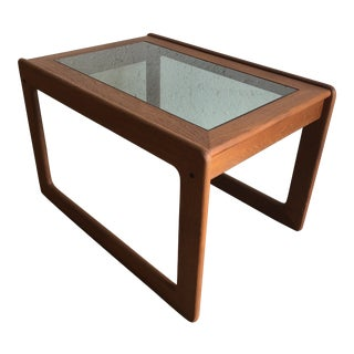 Vintage Mid Century Modern Danish Side Table by Komfort Furniture For Sale