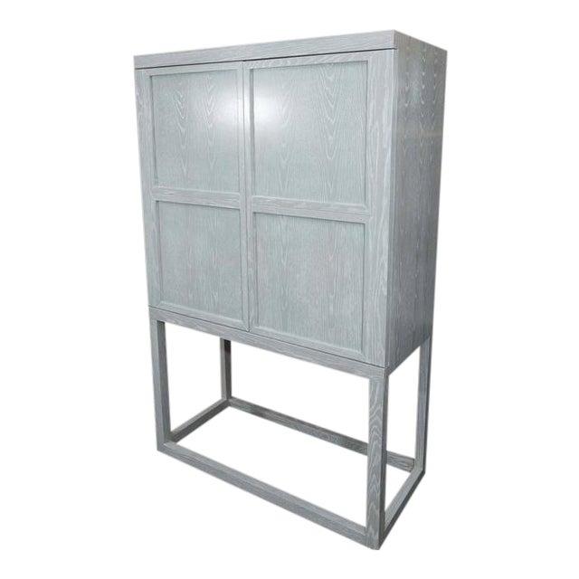 Custom Gray Cerused Bar For Sale