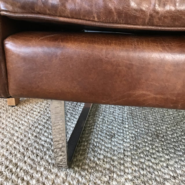 Timothy Oulton Modern Leather Club Chairs - A Pair - Image 3 of 8