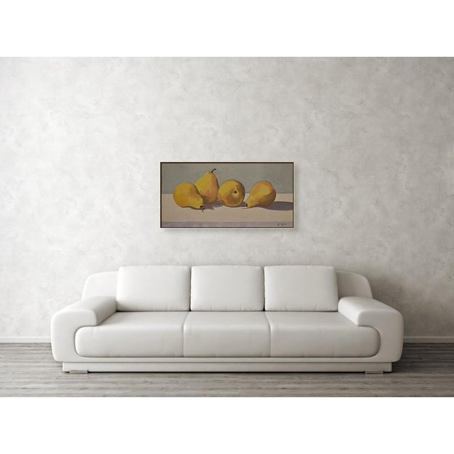 Contemporary Four Pears' Oil Painting by Contemporary Expressionist George Brinner For Sale - Image 3 of 3