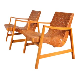 "Pair of Two ""Vostra"" Easy Chairs by Jens Risom for Knoll, USA in 1941"