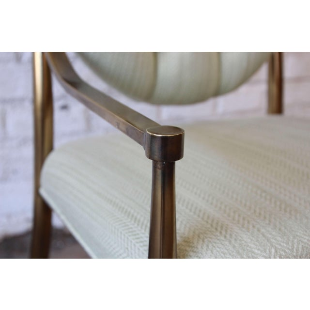 1970s Vintage Mastercraft Brass Regency Dining Chairs - Set of 6 - Image 11 of 11
