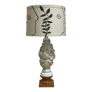 """Narcissus"" Limited Edition Italian Porcelain Fruit Topiary Lamp With Shade For Sale"