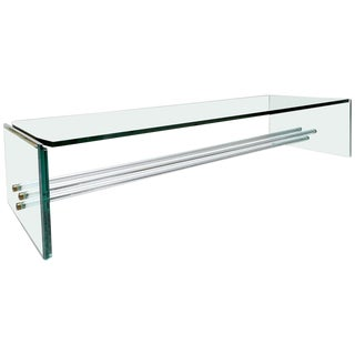 Large Glass Coffee Table by Fontana Arte For Sale
