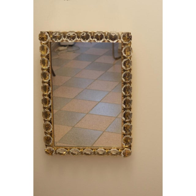 Vintage crystal mirror by Bakalowits & Sohne For Sale - Image 9 of 11