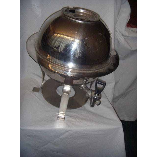 Mid-Century Stainless Steel Hot Water Samovar Dispenser For Sale - Image 4 of 6