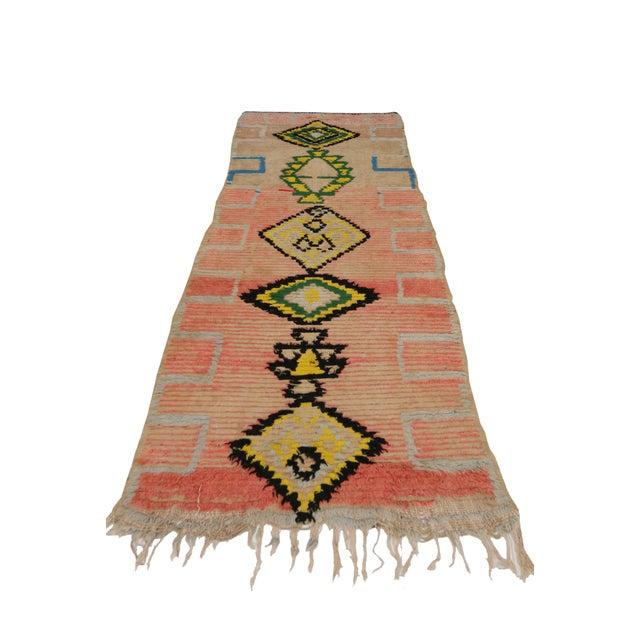 Boho Chic Vintage Moroccan Berber Tribal Design Runner - 3'8 x 8' For Sale - Image 3 of 7