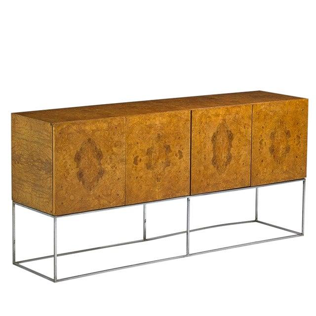 Milo Baughman for Thayer Coggin Burl Cabinet For Sale