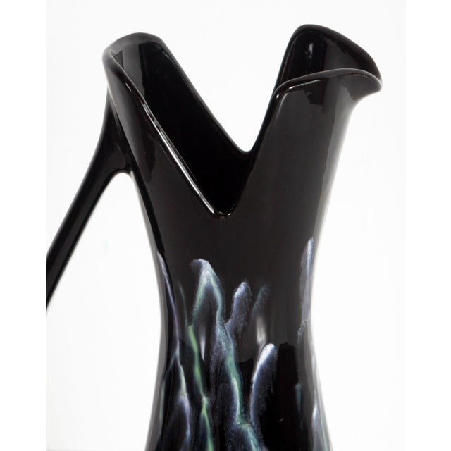 Royal Haeger Mid Century Modern Black Lava Pitcher / Vase For Sale In Providence - Image 6 of 12