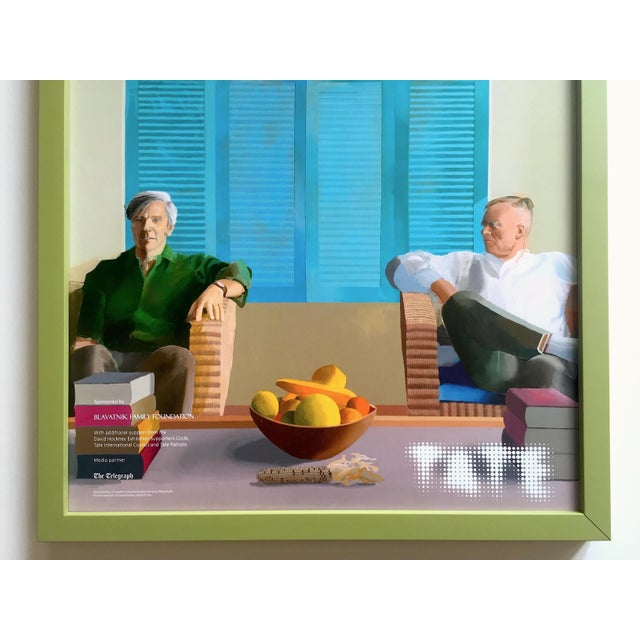 "Expressionism David Hockney Rare Lithograph Print Tate Britain Framed Pop Art Exhibition Poster "" Christopher Isherwood and Don Bachardy "" 1968 For Sale - Image 3 of 13"