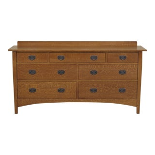 Stickley Mission Arts & Crafts Oak Dresser For Sale