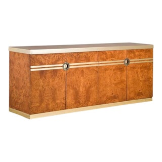 A Pierre Cardin Designed Burr Veneered Buffet 1980s For Sale