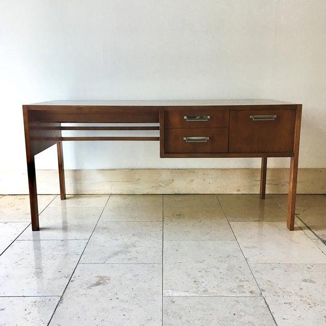 A Walnut Desk by Baker 1960s For Sale - Image 6 of 6