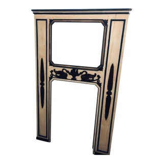 19th Century Wooden Italian Fireplace Surround/Mirror For Sale