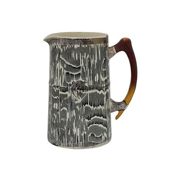 1930s Silver Shield Faux Bois Jug - Image 2 of 5