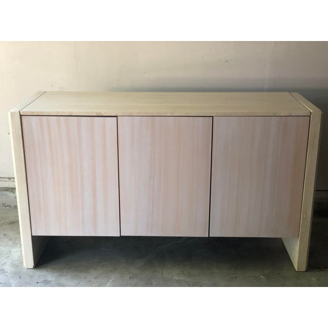 Tan Vintage Italian Travertine Credenza Buffet For Sale - Image 8 of 12