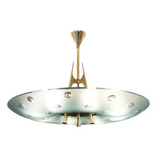Fontana Arte Chandelier by Max Ingrand, Italy, 1955 For Sale